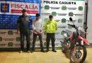 Policía Caquetá recupera motocicleta hurtada