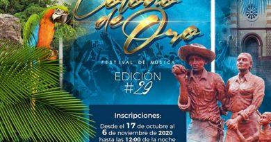 "Festival de música 'Colono de Oro"" abre inscripciones"