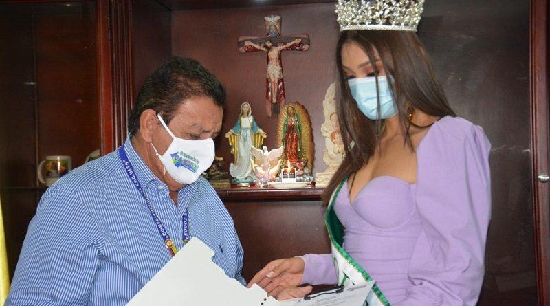 Gobernador impuso banda a la señorita Caquetá, al concurso Miss Universe Colombia 2020